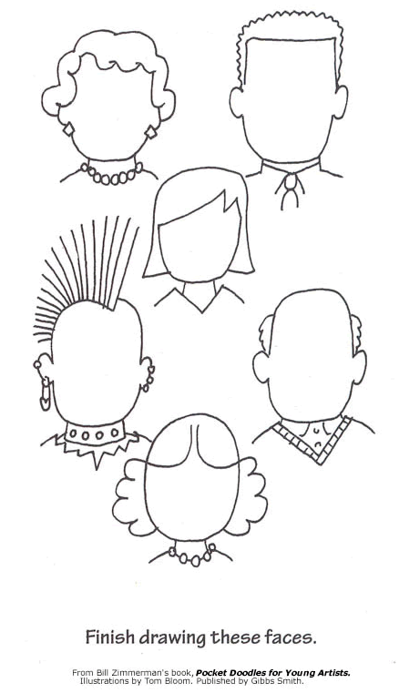 From Bill Zimmerman's Pocket Doodles for Young Artists and