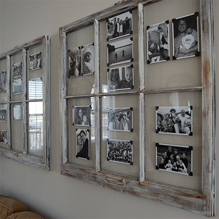 Turn reclaimed old picture frame into photo art wall gallery also diy rh pinterest
