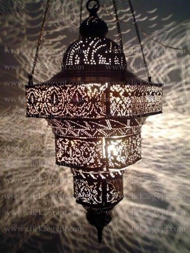 Antique Moroccan Style Pierced Large Pendant Chandelier Light Fixture Want This For My Bedroom Or