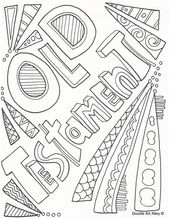 Old Testament and New Testament coloring pages and many