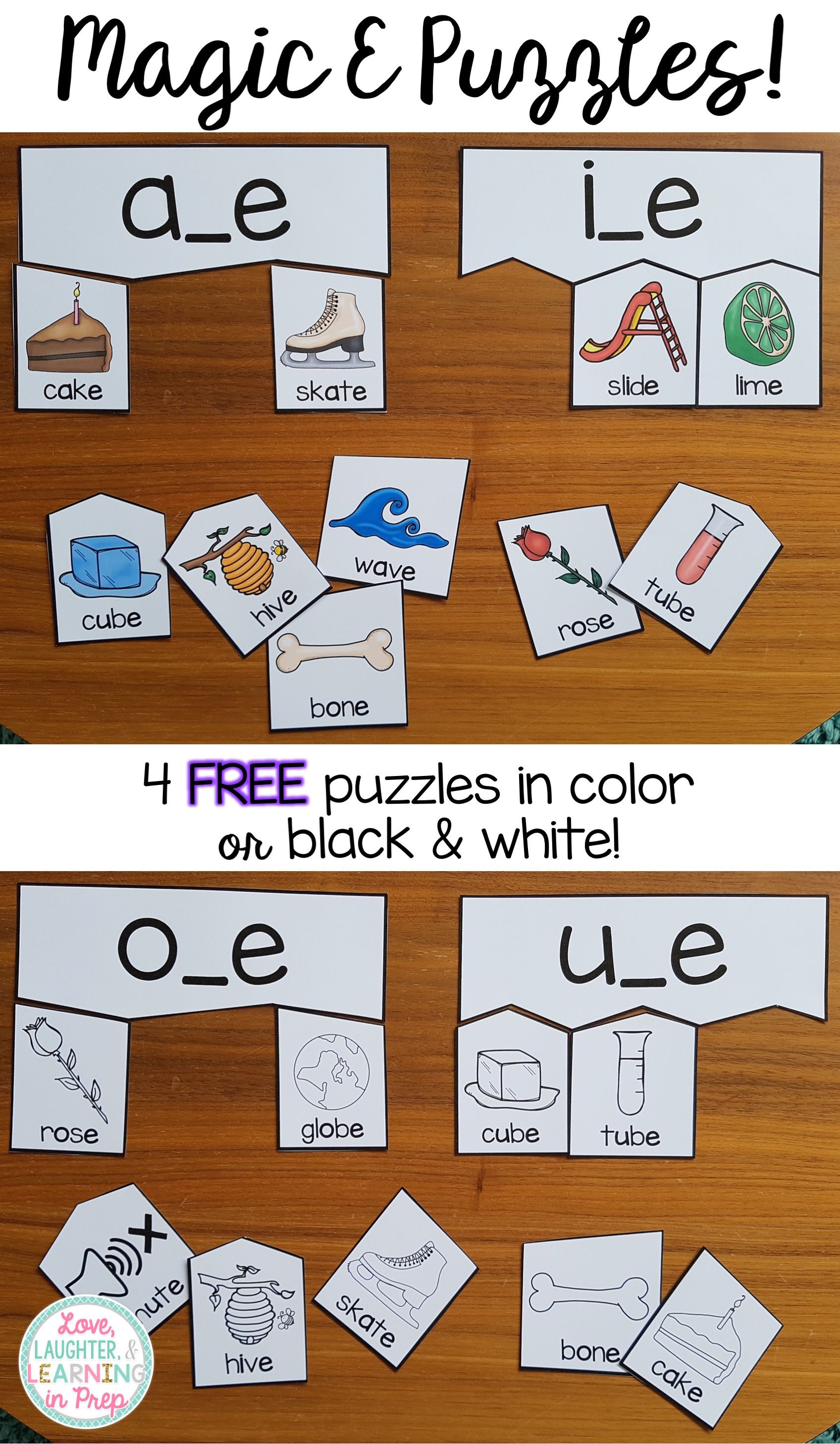 Free Magic E Puzzles Hands On Phonics Fun For Little Learners