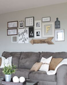 Learn how to create  fun personal and creative gallery wall for less than also living room decorating learning rh pinterest