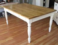 Modest Farm Kitchen Table Wood Made Furnished With ...