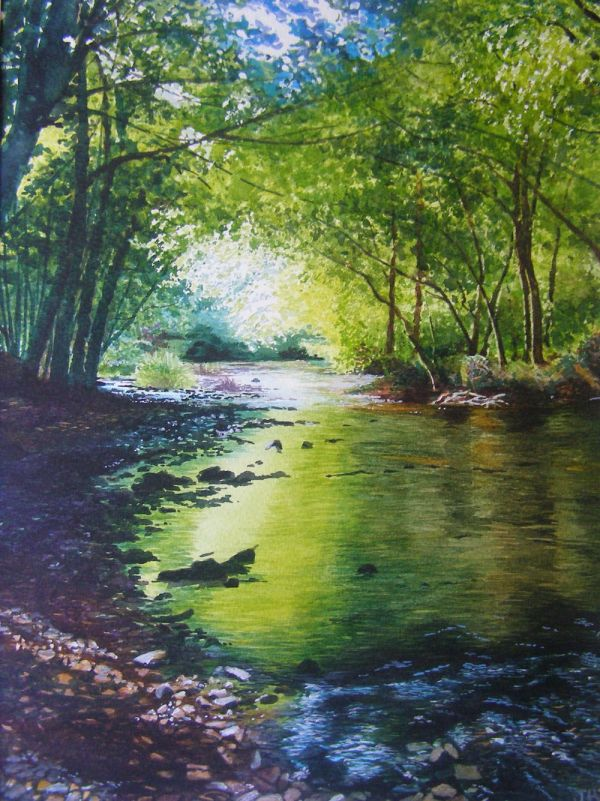 Oil Painted Rivers . Painting Holidays