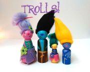 troll family peg dolls