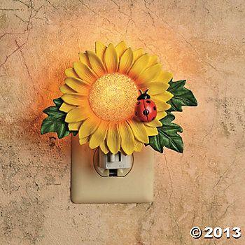 sunflower decor for kitchen | sunflower night-light, indoor
