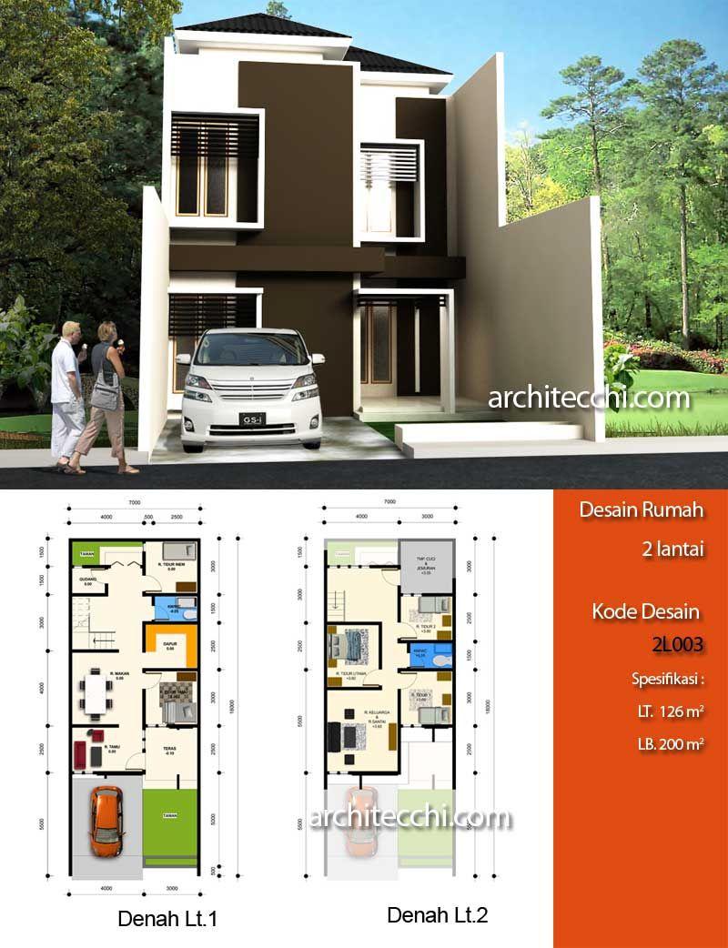 Desain Rumah Minimalis 2 Lantai Desain Rumah Lebar 7 meter Desain Rumah 5 kamar tidur Desain