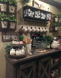 Love all the rae dunn on this coffee bar also lovers dream comes true home away from pinterest rh