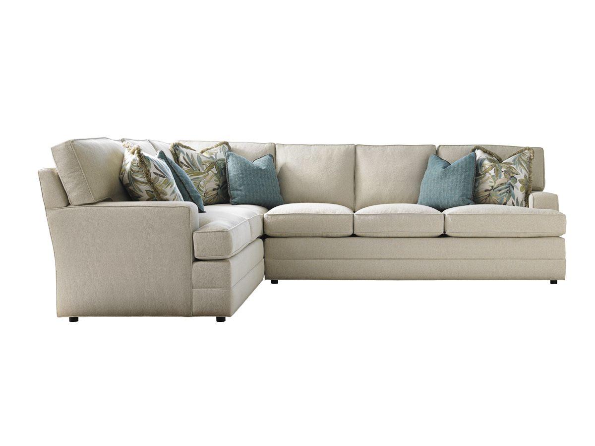lexington sectional sofa slipcover white