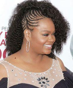 Curly Celebrity Love Get Jill Scott's Half Braided Look Gets