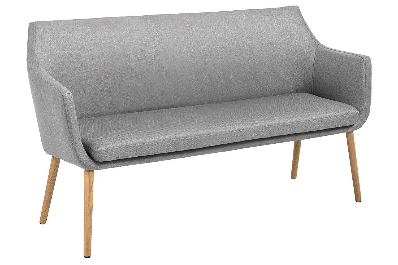 SRENSEN DESIGN Sofa Nora hellgrau grau Wohnzimmer skandinavisches Design Stoff Polster