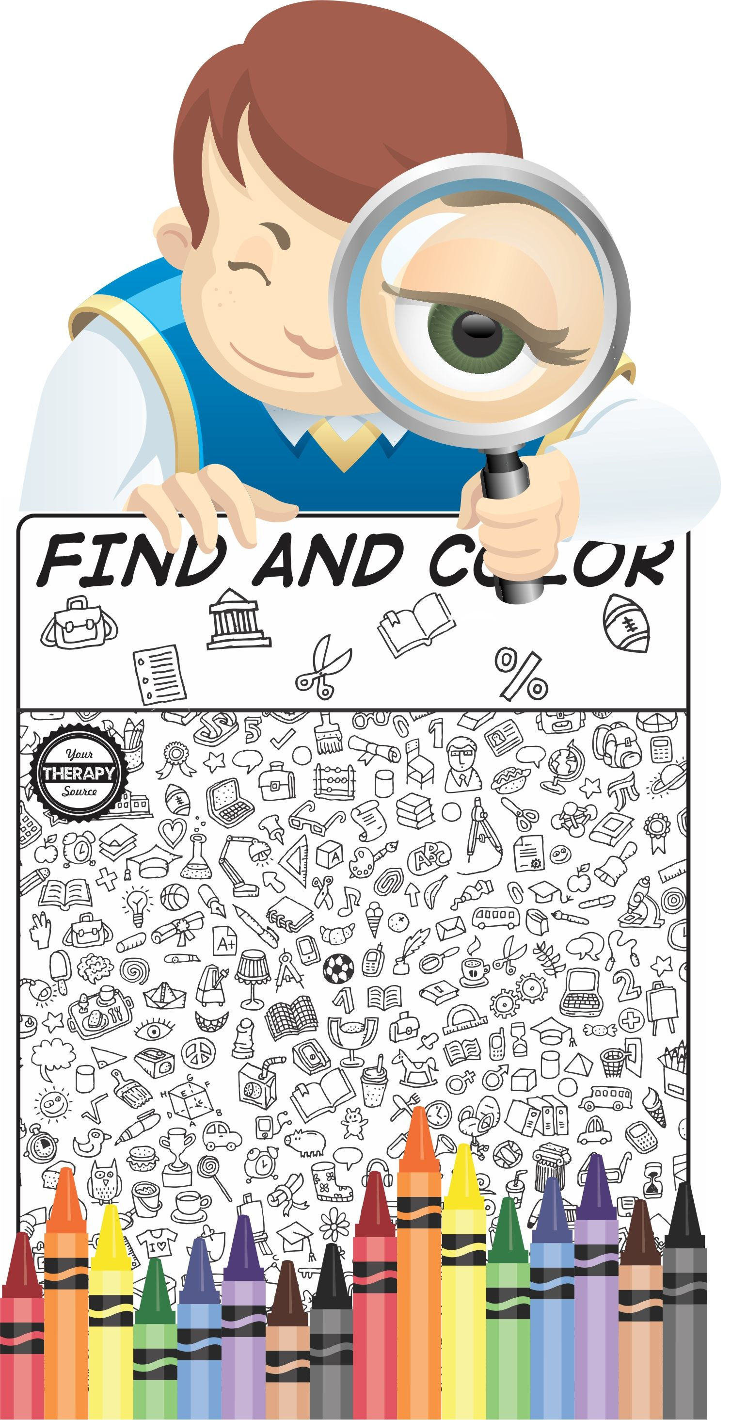 Here Is A Visual Perceptual Freebie Find And Color For Back To School From The