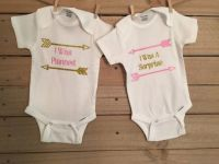 Cute twin onesie, cute twin onesies, twin set, twin onesie