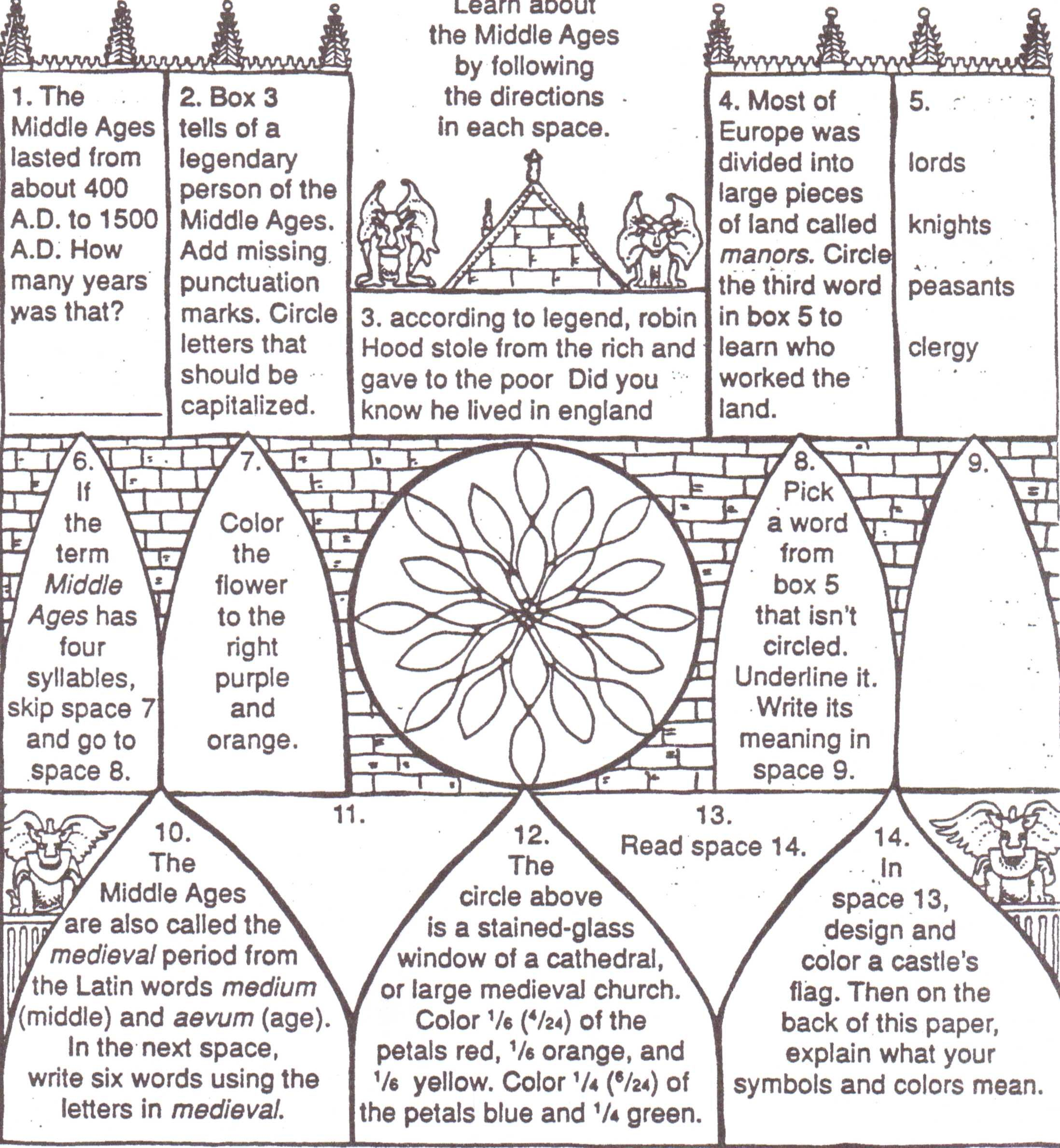 Late Middle Ages Worksheet