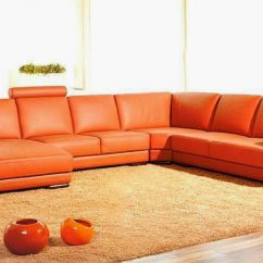 Looking For Leather Sofas Sensational Good Orange You Must Have Charming