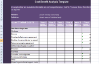 Get Cost Benefit Analysis Template in Excel | Excel ...