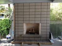 concrete block outdoor fireplace nz - Google Search ...