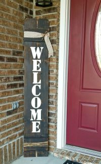 Best 25+ Welcome signs front door ideas on Pinterest ...