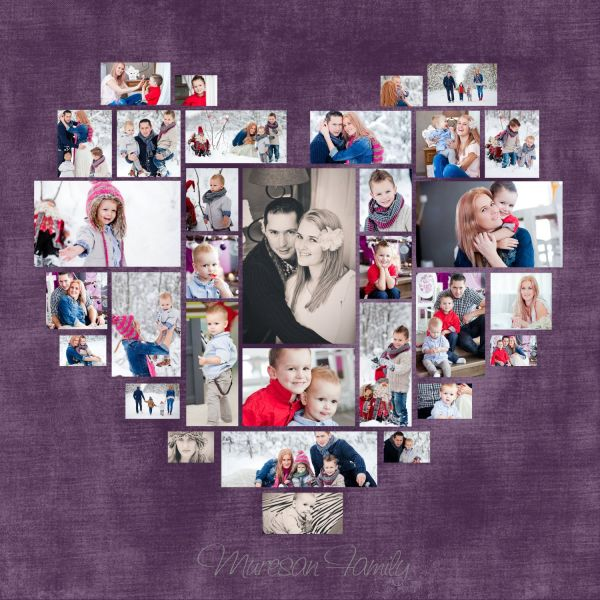 Heart Collage Template Photoshop