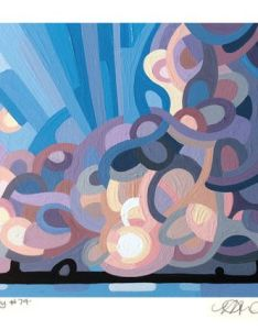 Art painting landscape abstract clouds storm stormy sky blue purple also rh pinterest