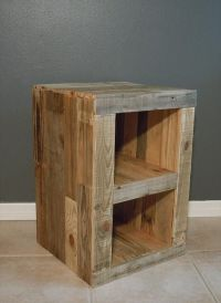 DIY Pallet Nightstand and Bed | Pallet Furniture Plans ...