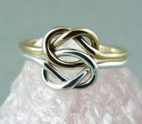 Double Love Knot Ring / Infinity Knot Ring / Mothers Day ...