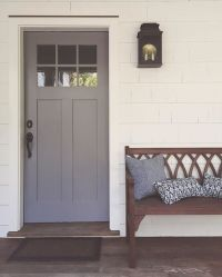 Our new front door color reveal: Cinder by Benjamin Moore ...
