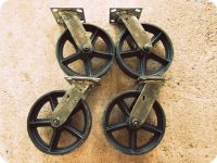 reproduction cast iron casters | Vintage Swiveling 8 inch ...
