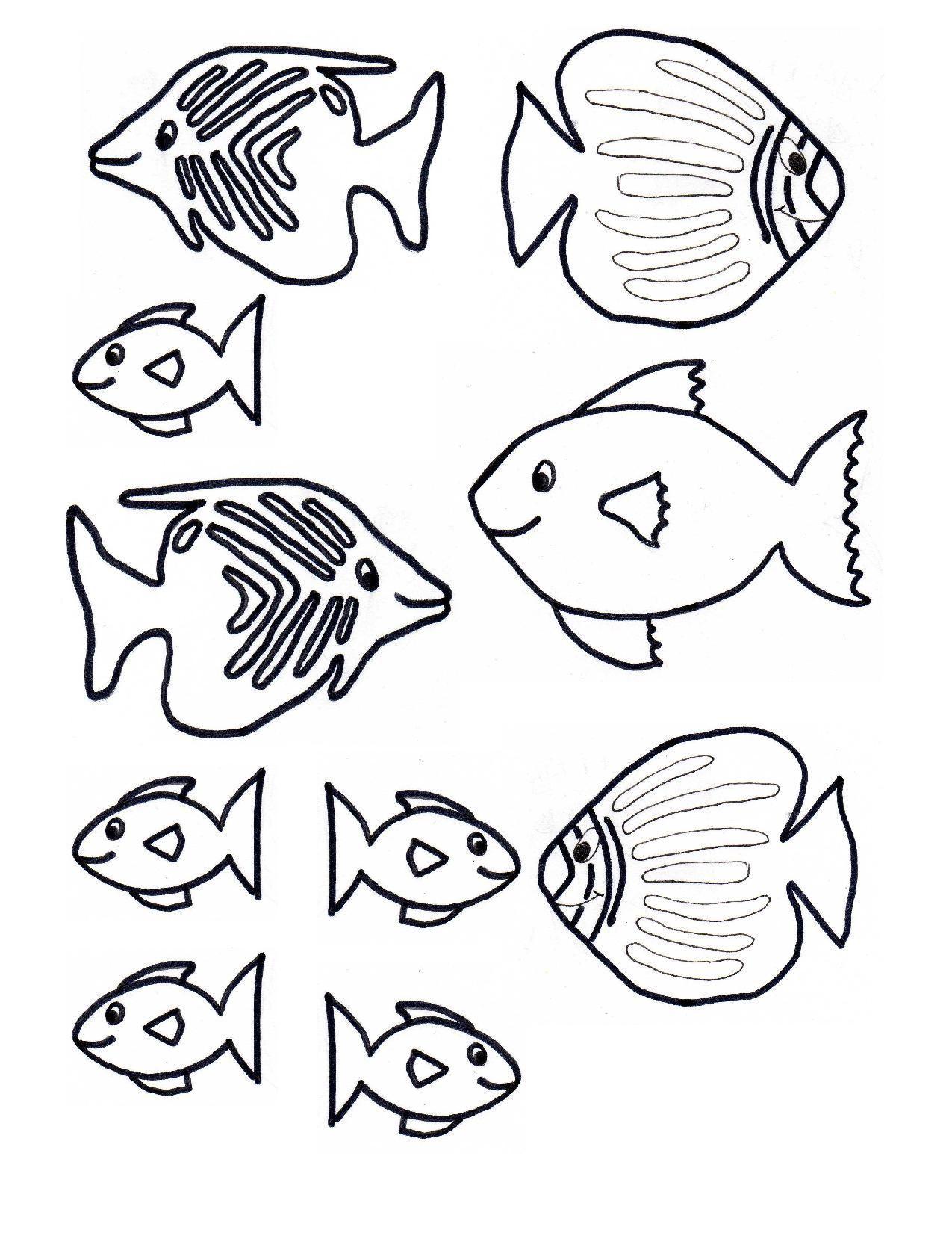 Fish Template Free Craft Underwater Kids Scene 1 1 275 1 650 Pixels