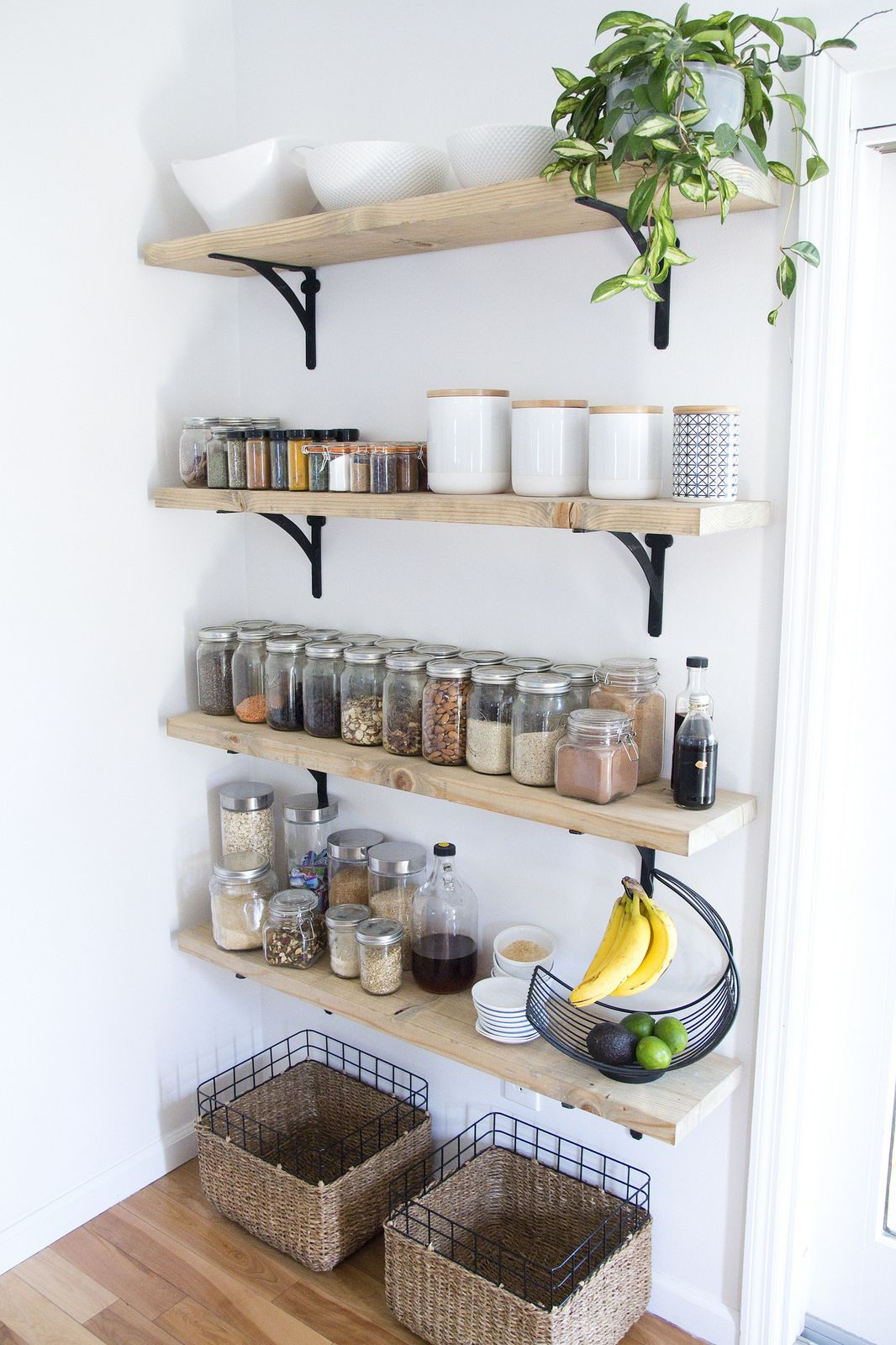 kitchen wall shelving delta faucets 8 tips for creating successful open and a pantry