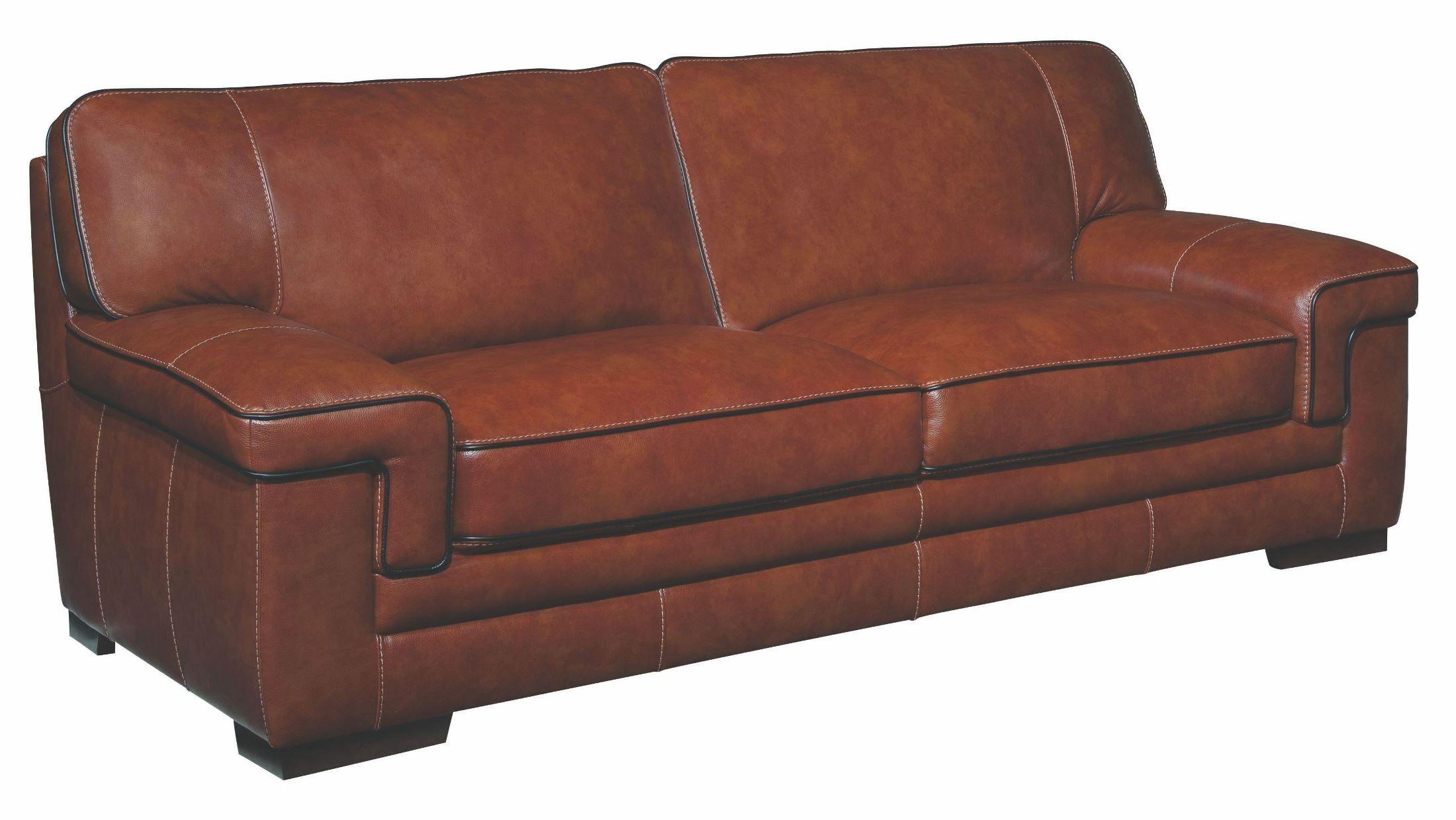 chestnut colored leather sofa art deco bed simon li furniture macco in brown