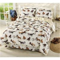 Girls Horse Bedding - Horses Comforter Set with Sheets ...