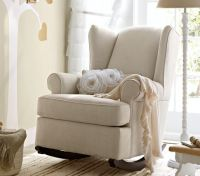 Wingback Rocker | Pottery Barn Kids -What color would go ...