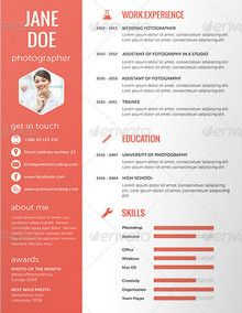 Flat Resume Set Orkhan Niftaliyev Pinterest Design