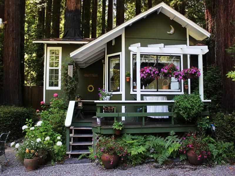 Cute One Story Cottage Home Outdoor Fancy Cottage House