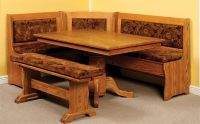Amish Traditional Breakfast Nook Set with Storage and ...