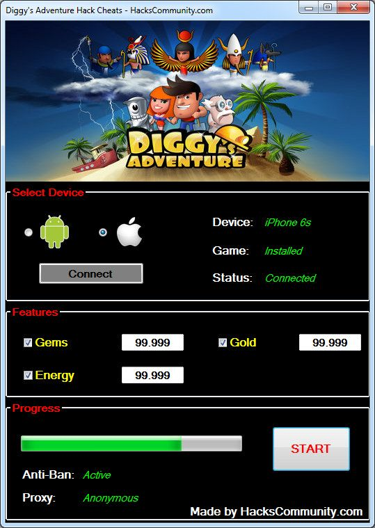 game diggy hacked livinmotion