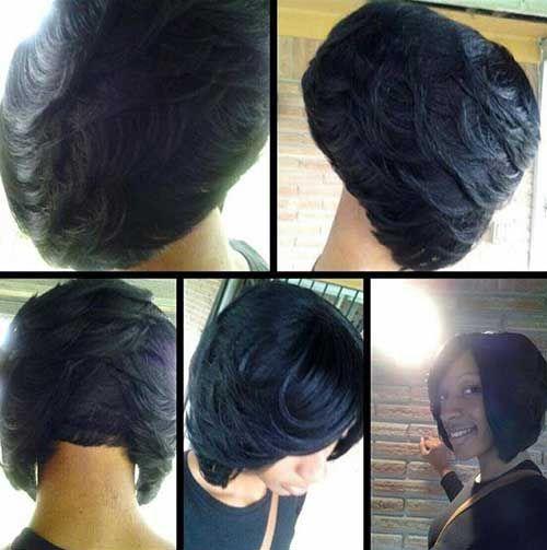 Short Layered Bob Haircuts For Black Women Beautiful Healthy