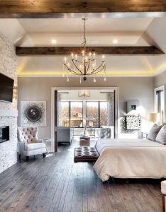 It   all in the details loving mix of stone fireplace and wood beams also rh pinterest