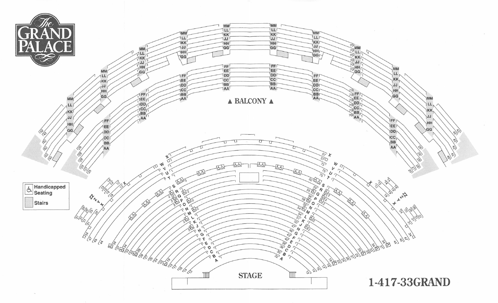 Seating Chart For Branson Missouri S Grand Palace Theater 4 000 Seats To Choose From