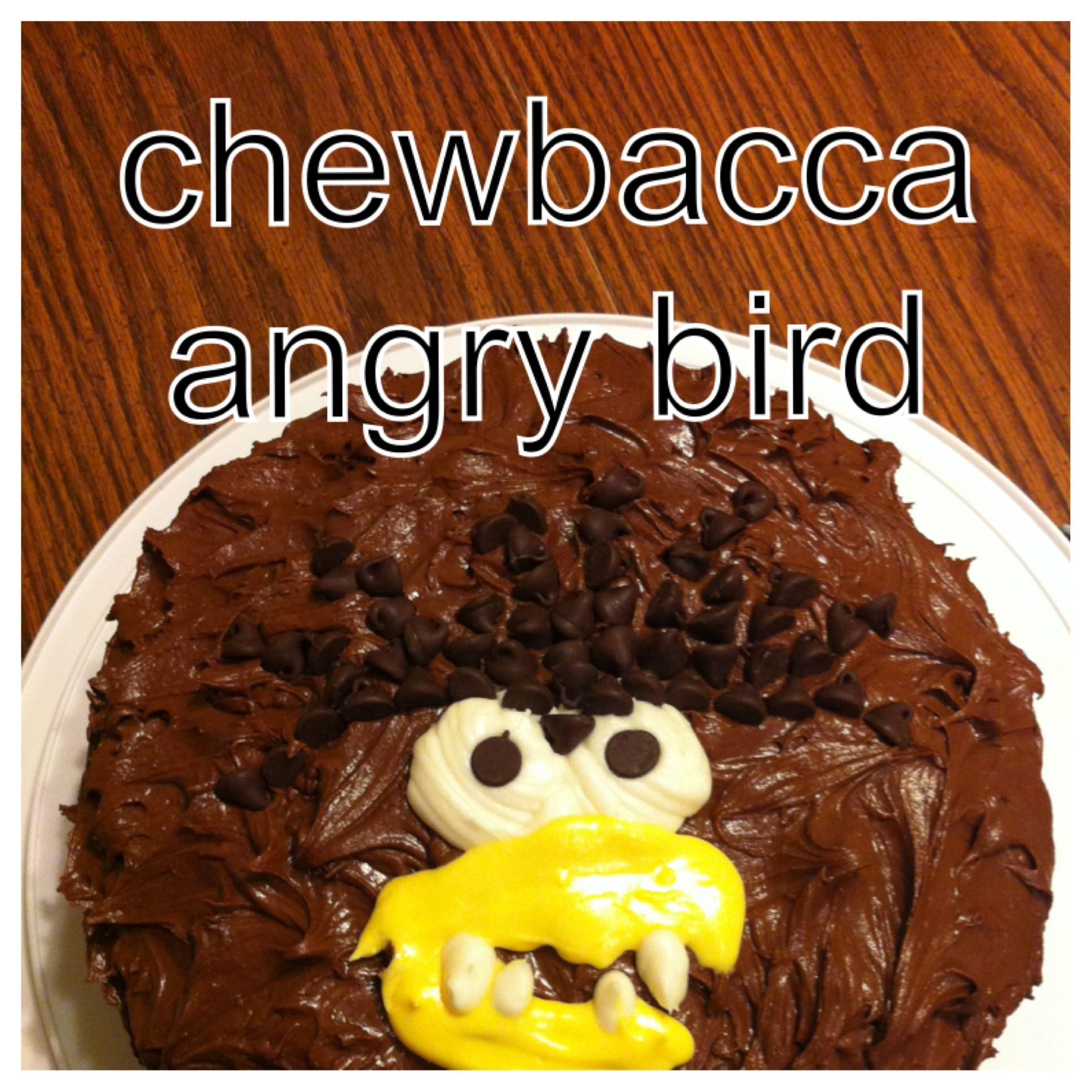 My Son Wanted Me To Make An Angry Bird Star Wars Chewbacca