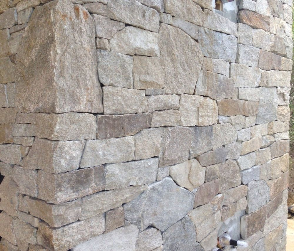 ALPINE Granite Stack Stone Cladding Hotham  For Feature Walls Fireplace  Stone cladding