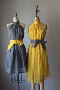 12 Awesome Etsy Bridesmaid Dresses | Yellow bridesmaid ...