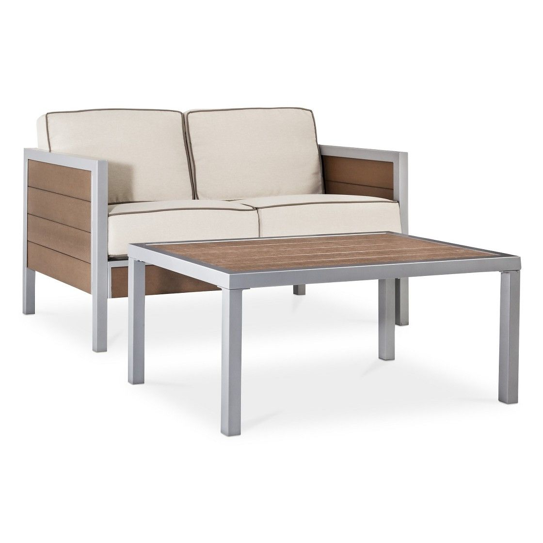 target sofa table espresso covers cheap uk 500 threshold bryant 2 piece faux wood patio loveseat