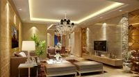 luxury living room interior with pop ceiling and sofa sets