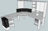 Blkfxx's Computer Desk Build.   Home Office   Pinterest ...