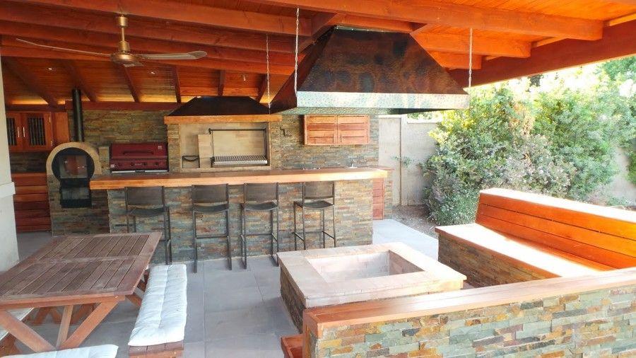 Precio De Construcci N Piscina Y Quincho  Quinchos  Pinterest  Kitchens Backyard and Patios