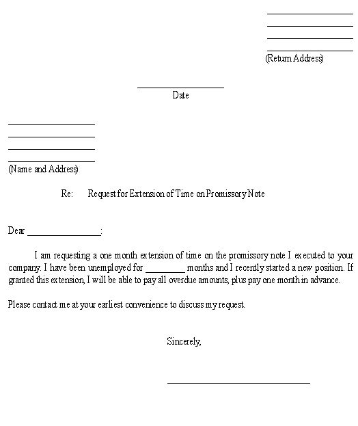 Sample Letter for Request for Extension of Time on