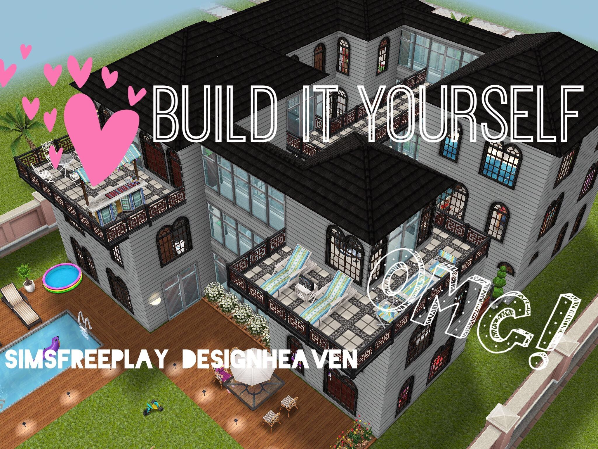 Sims Freeplay Build It Yourelf! Family Mansion The Sims