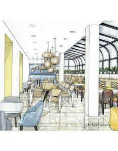 Architecture interior design sketches house also pin by marika kate on professional perspective  rendering rh pinterest